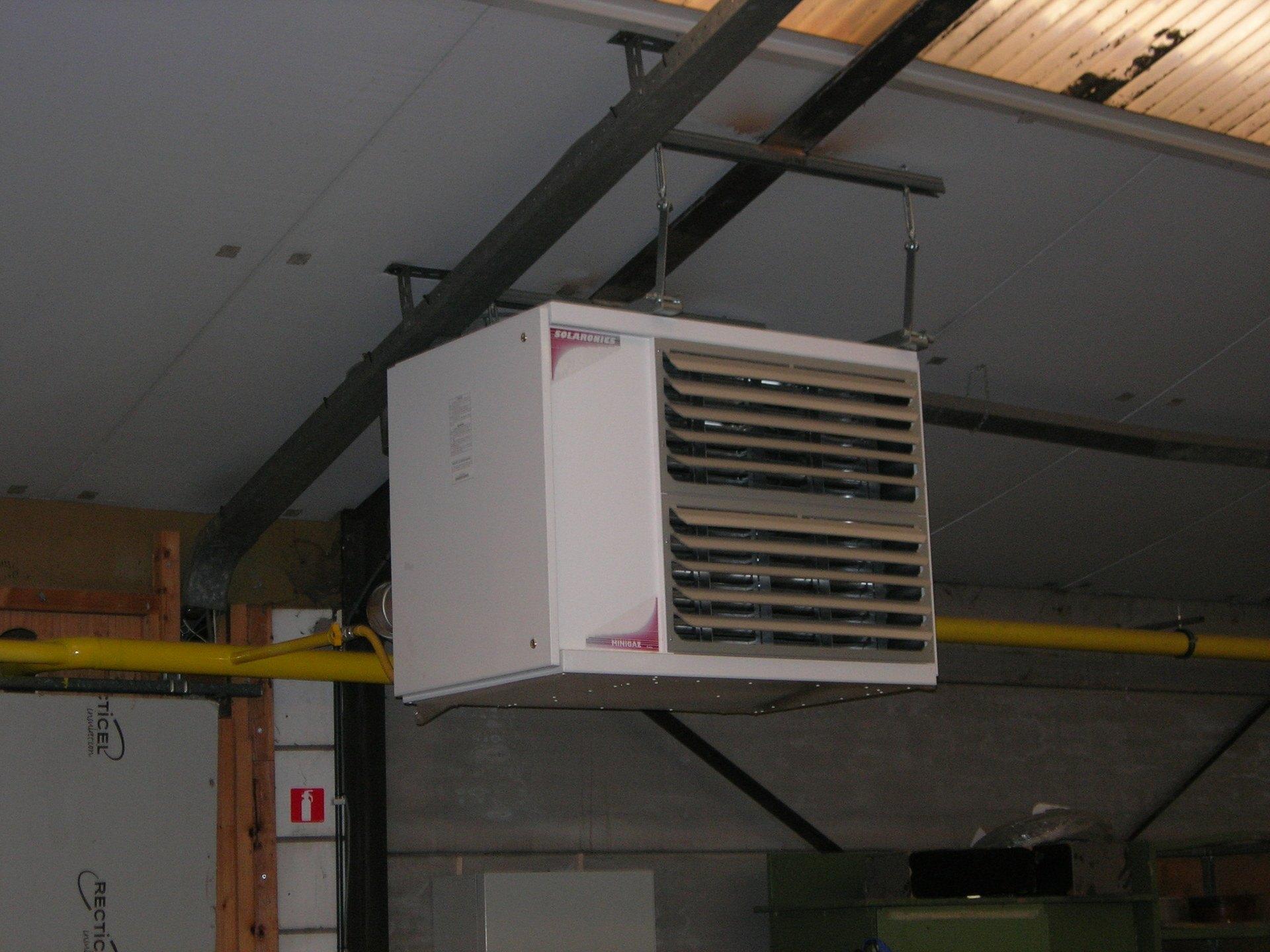 Ruimteverwarming d.m.v. luchtverhitters SOLARONICS
